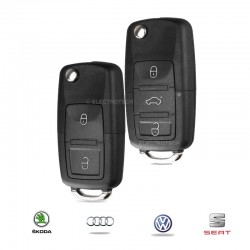 Double clé Volkswagen Seat Audi Skoda
