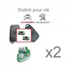 2 X Switchs pour télécommande Peugeot