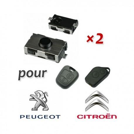 2 X Switchs pour télécommande 206 307 406 C2 C3 C4