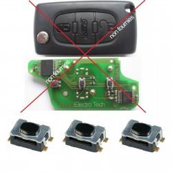3 X Switchs pour télécommande 107, 207, 307, 308, 407, 607, 807, 1007, 5008, 3007, CC, SW