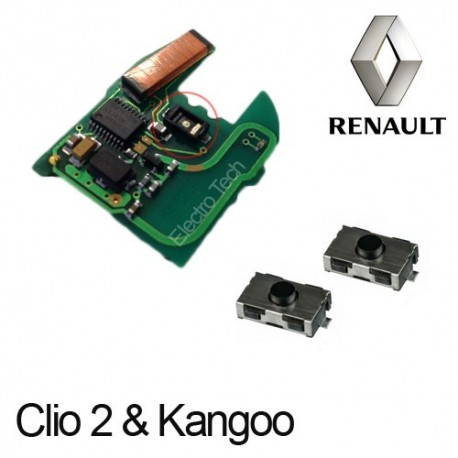 2 X Switchs pour télécommande Renault Clio 2, Kangoo