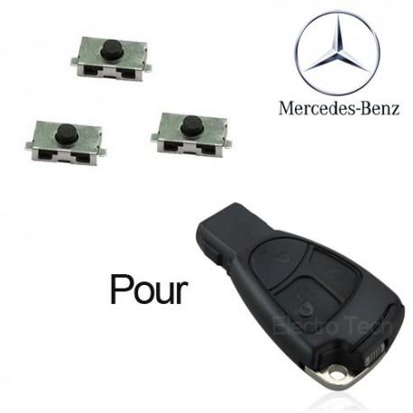 3 X Switchs pour télécommande Mercedes classe A, B, C, E, S, CLK, VITO, Viano