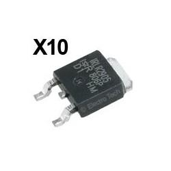 10 × Transistor IRLR2905