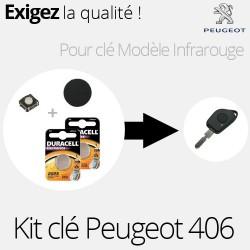 Kit de réparation clé infra rouge Peugeot 406