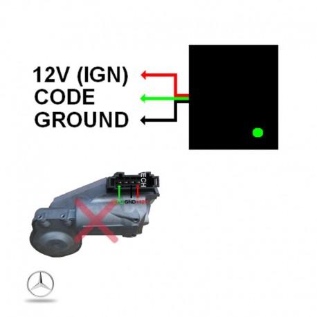 Emulateur verrou de colonne Mercedes W209 W211